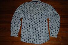 Vintage Men's Tommy Hilfiger Fleur De Lis Long Sleeve Shirt (X-Large)