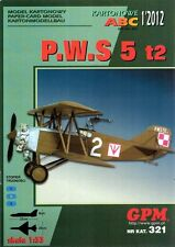 P.W.S. 5 t2 Polish airplane from 1928 1:33 paper model GPM 321