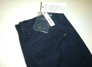 lacoste mens regular fit Navy blue cotton knit casual dress pants sz: 36Wx34L