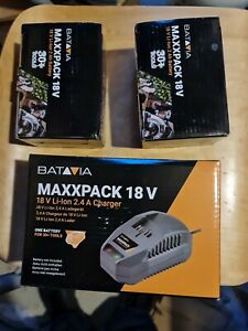 Batavia BAT7063689 MAXXPACK Li-ion 18V Charger For 4.0Ah & 2.0Ah + 2 battery 2Ah