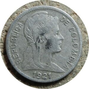 elf Colombia 1 Centavo 1921  Denver Mint