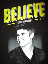 JUSTIN BIEBER CONCERT T SHIRT Believe Live Tour 2013 2-Sided Cities Smile SMALL