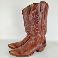 Nocona Mens Brown Leather Western Cowboy Boots Size 10 B