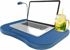 New listing Laptop Desk Cup Holder Lapdesk Portable Bed Tray Table Pillow With Led Light New