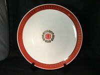 ROUND PLATTER MADE IN TAIWAN ORIENTAL MOTIF CHINESE FOOD SERVING GOLD RED WHITE
