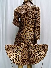 NEW $12K ALAIA BROWN-LEOPARD PONY HAIR CALFSKIN LEATHER FISHTAIL COAT- S