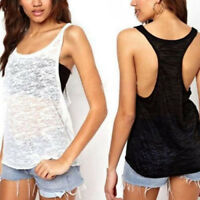 AU 8-26 Women Sleeveless Strappy Vest Top Plus Size Tee T Shirt Cami Blouse Tank