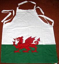 WELSH FLAG design cotton kitchen APRON,  Wales, Cymru (Adult, one size)
