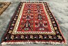 Authentic Hand Knotted Vintage Morocco Wool Area Rug 3.5 x 2.0 Ft (1661 KBN)