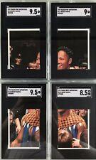 Rocky Maivia Dwayne Johnson 1997 Panini Sticker 4 Card Set #116-119 SGC The Rock