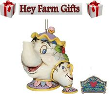 Disney Traditions Beauty & The Beast Mrs Potts & Chip Christmas Tree Decoration