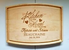Personalized Maple Cutting Board The Kitchen is the heart of home Wedding Gift