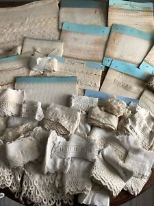 5 Pounds - Large Lot Antique Lace & Eyelet Trim