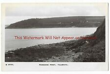 Cornwall Falmouth Pennance Point Real Photo Vintage Postcard 2.8