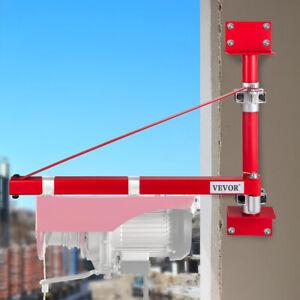 Electric Hoist Holder Swing Arm 75-115cm Swinging Scaffolding Pole Crane Block