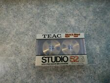 Rare Teac Studio/52G Metal Tape/Reel  New Sealed Cassette