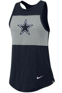 New Dallas Cowboys NFL Football Women's Nike Breathe Dri-Fit Tank Top Shirt NWT