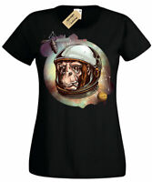 Cosmic Chimp Space Monkey Astronaut T-Shirt Womens Ladies