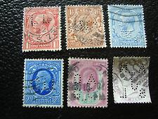 reino UNIDO - 6 sellos sellados (perforado) (A18) stamp united Reino