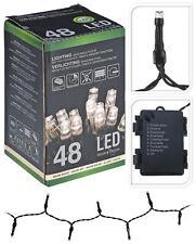 Lichterkette 48 LEDs Warmweiß Batterie Timer innen außen Lichterketten
