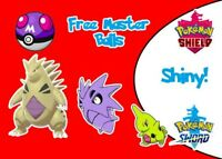 Shiny Larvitar, Pupitar, Tyranitar Pokemon Sword/Shield Trade With Masterball