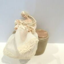 """DOLLHOUSE MINIATURE 1/2"""" SCALE PORCELAIN LADY DOLL WITH A TINY BABY"""
