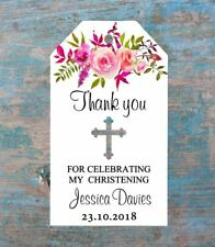 10 Gift Tags Baptism Christening Confirmation Bomboniere Personalised Candle v3