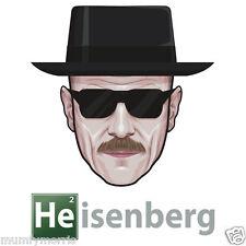 BREAKING BAD INSPIRED WALTER WHITE HEISENBERG  IRON ON T SHIRT TRANSFER