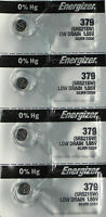 4 Energizer 379 Watch and Calculator Batteries