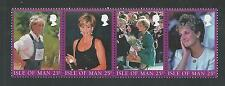Isle Of Man, # 793 a-d Princess Diana Memorial Strip of Four
