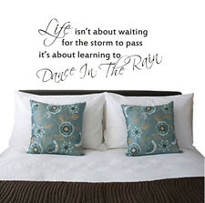 ~ Dance in the Rain~Removable Home Wall Quote Decal Vinyl Art Sticker Decor AU