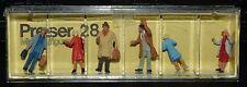 Preiser, Vintage, New, Item# 28 Ho scale Arriving passengers *
