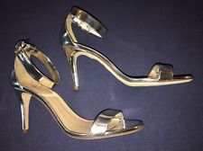 J Crew 7 Mirror Metallic High Heel Sandals Silver New A0389 $198 Sandal NEW