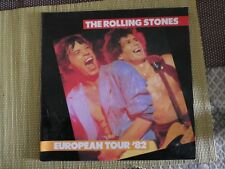 Rolling Stones European Tour 82 concert programme incl Wembley ticket stub