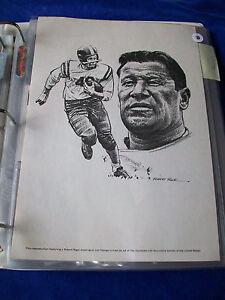 "Jim Thorpe - Robert Riger Print 1970's - 7 3/4"" x 11"""