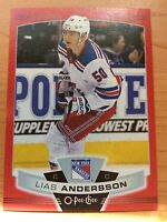 O-Pee-Chee 2019-2020 RED BORDER LIAS ANDERSSON BLANK BACK HOCKEY CARD