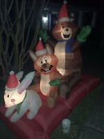 Gemmy Airblown Animated Inflatable Woodland Creature Sleigh Ride Christmas Decor