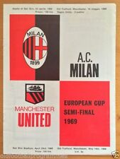 Away Teams A-B AC Milan European Cup Football Programmes