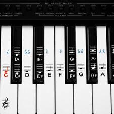 Klavier Keyboard Noten Aufkleber Deutsches Layout 49 61 76 88 Tasten Instrumente