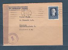 Eta/ enveloppe  Autriche pour la Suisse voyagée en 1949 République Karl Renner