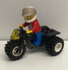 Lego Black ATV Racer Guy Minifig Lot: figure bike tricycle city motorcycle