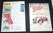 VORARLBERGER MOTOR VETERANEN RALLYE JUNI 1985 POSTCARD. TRAIN/ MOTORCYCLE STAMPS