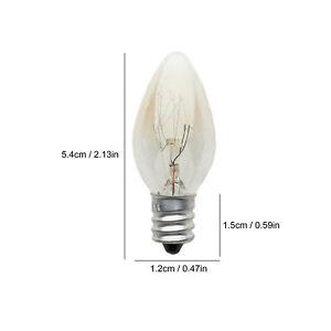 1/2/6/12pcs 10W Light Bulb C7 Incandescent Tungsten Night Lamp Bulb Warm White F