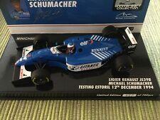 Ligier Renault JS39b M. Schumacher 1:43 Minichamps Test 1994