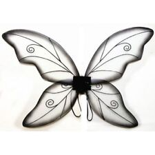 Black Adult Dress Up Fantasy Butterfly Fairy Wings Tinkerbell Womens Costume