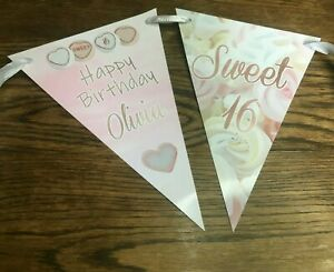 Personalised elegant anniversary bunting-flags banner party decoration