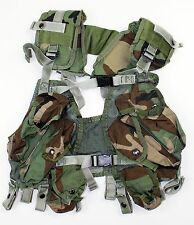 (1) GENUINE US ARMY LOAD BEARING ENHANCED TACTICAL ASSAULT VEST in WOODLAND CAMO