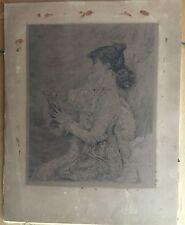 Ricardo De Los Rios Etching After J Bastien Lepage - Sarah Bernhardt, 19th Cent.