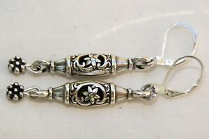New Altered Brighton Oakbrook Open-worked Silver Charm On Lever Back Earrings
