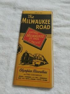 The Milwaukee Road Railroad Timetable. (1950)